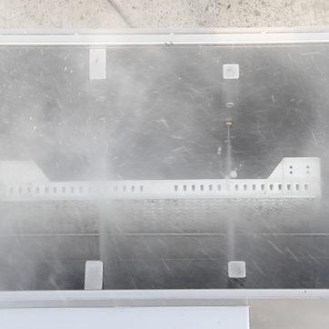 Lavaggio delle seminiere con getti d'acqua ad alta pressione grazie alla pompa multistadio.