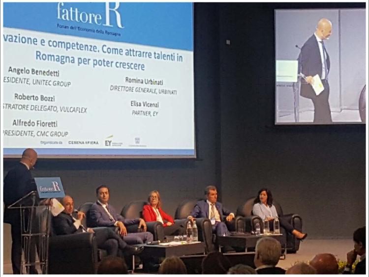 NELLA FOTO: fattore R - Forum dell'Economia della Romagna - a destra, l'imprenditrice Romina Urbinati, general manager della URBINATI srl.