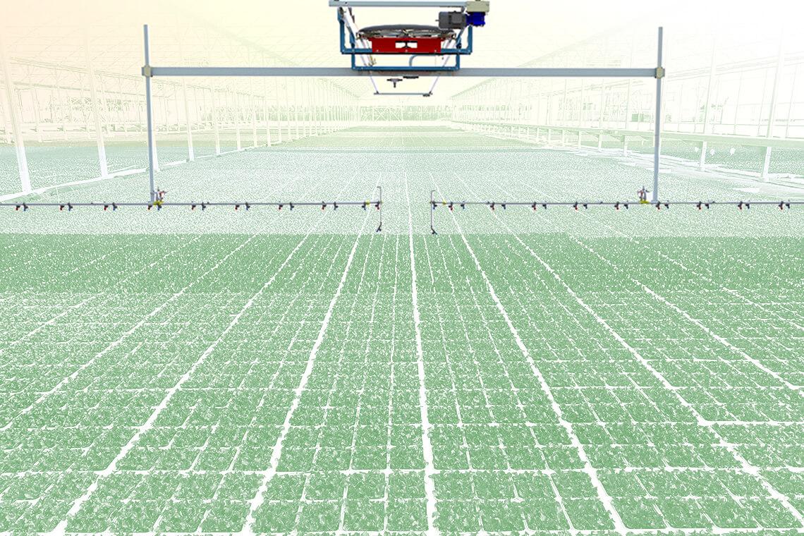 Irrigatore mobile a doppia rotaia IRMO4 - URBINATI Srl