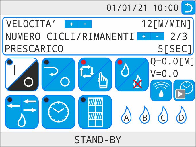 Irrigatore mobile a doppia rotaia IRMO4 - touch screen - URBINATI Srl